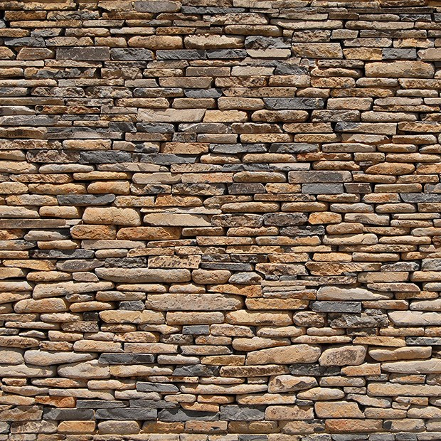 Multicoloured Natural Stone Wall Evergreenlandscapes Ie