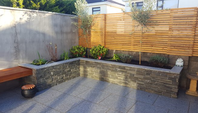 Stone Paving and Wall