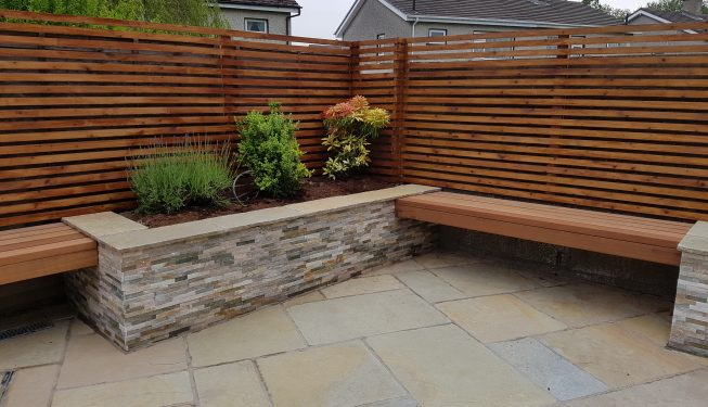 Raised Planter Seating - After Pic 2 - Delaford, Knocklyn, Dublin 16