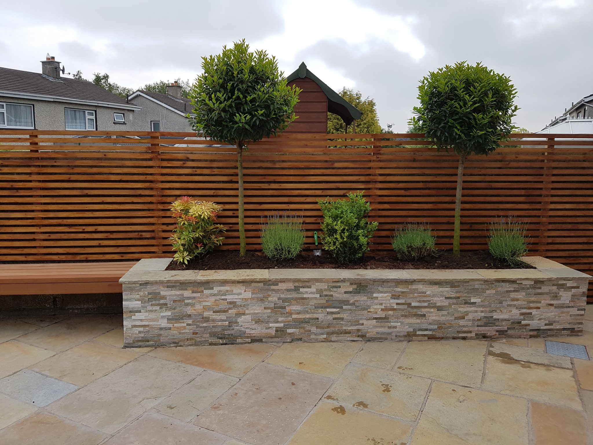 Raised Planter Seating - After Pic 3 - Delaford, Knocklyn, Dublin 16