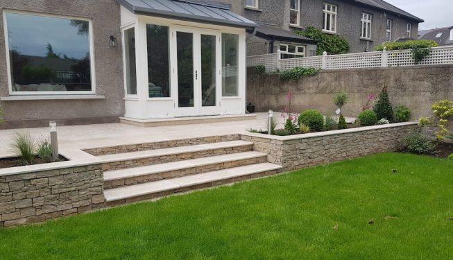 Dartry Park - Limestone steps 1