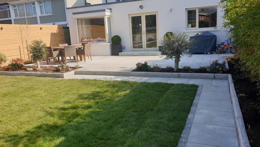 Dalkey Back Garden 1 - Roll out grass sod turf