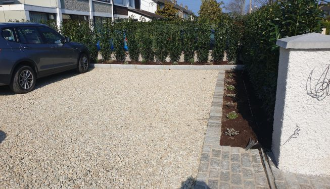 Dalkey Front Garden - Driveway Construction