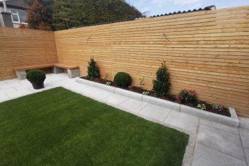 Templeogue back garden stone work - Evergreen Landscapes